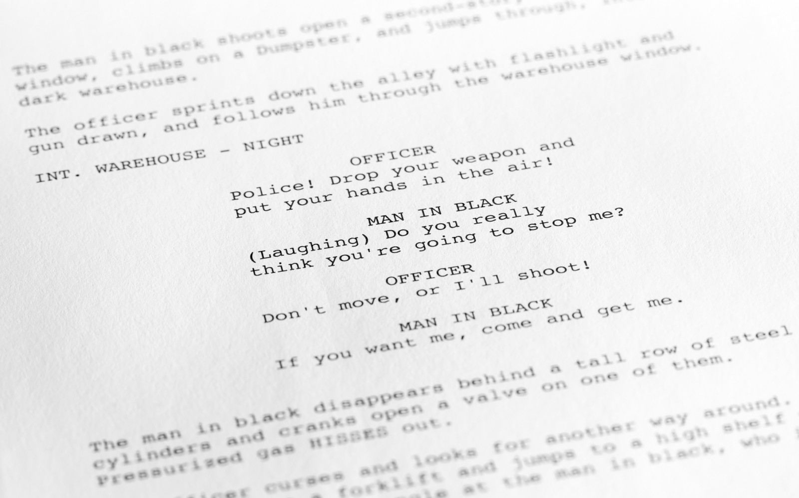 screenplay close up 1 generic film text written by photographer september 17